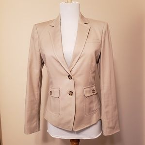 Tan Banana Republic stretch blazer petite 2